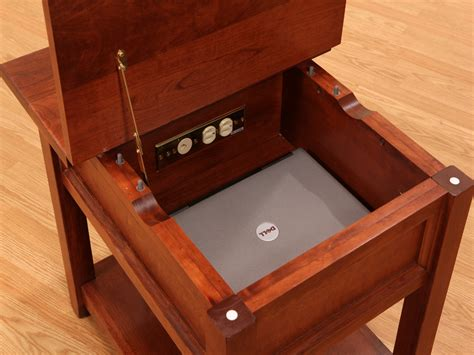 Handmade Solid Wood Furniture - garnet hill amish laptop end table amish furniture solid