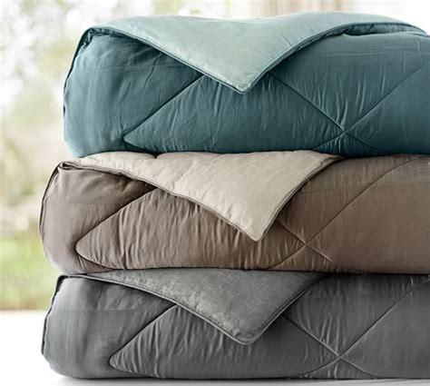 silk bedding set linen silk comforter sham pottery barn