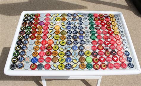 Interesting Tables by Fun And Ingenious Diy Projects You Can Do With Bottle Caps