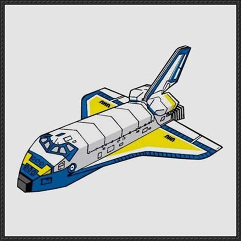 Papercraft Space Shuttle - simple space shuttle free papercraft