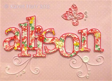 quilling names tutorial crafting creatures quilling letters name by karen harr