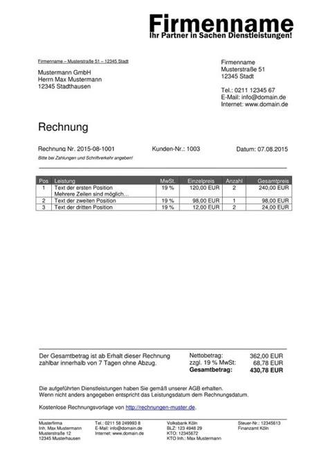 Rechnung Schreiben Als Privatperson Muster Vorlage Rechnung Ohne Umsatzsteuer Beispiel Rechnung Schreiben Rechnungsvorlage Rechnung
