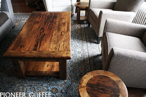 custom barnwood coffee tables