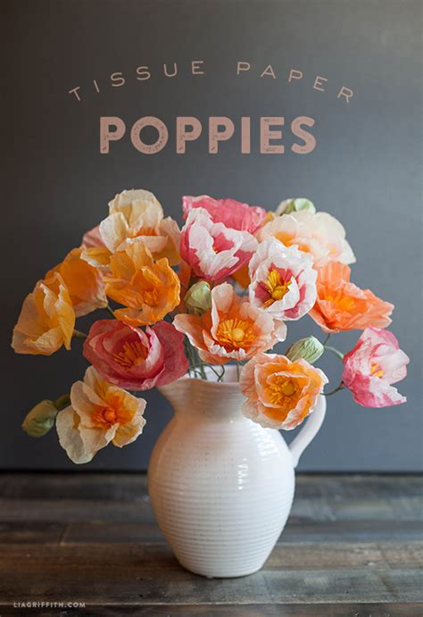 How To Make Tissue Paper Poppies - 15 tissue paper flower tutorials key lime digital designs
