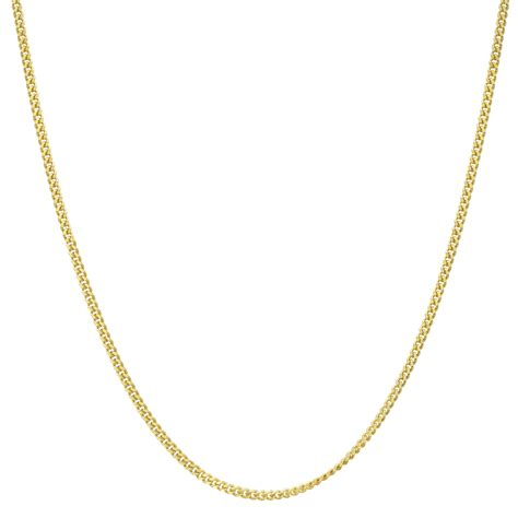 jewelry gold chain 18k yellow gold thin curb link chain necklace 20