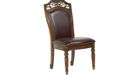 handly manor pecan upholstered side chair traditional