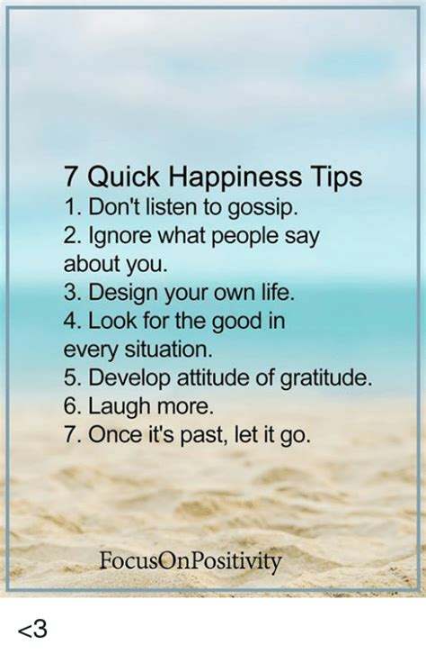 7 Tips For Giving Up Gossip by 7 Happiness Tips 1 Don T Listen To Gossip 2 Ignore
