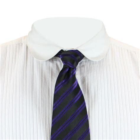 huxley striped four in hand tie purple