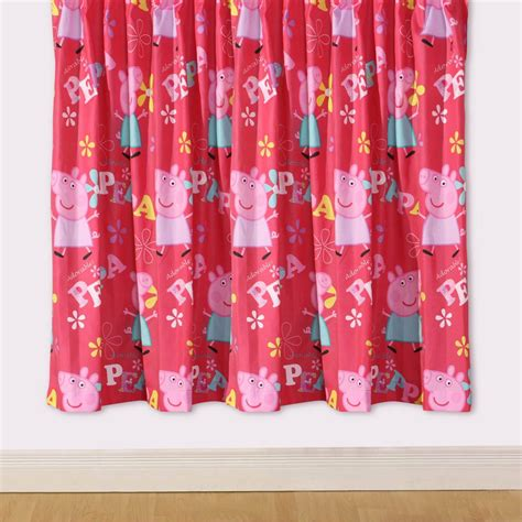 peppa pig curtains peppa pig adorable 66 quot x 54 quot drop curtains new ebay