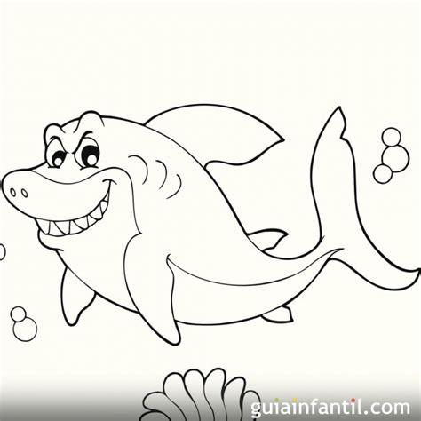 imagenes para colorear tiburon dibujo de un tibur 243 n para colorear dibujos de animales