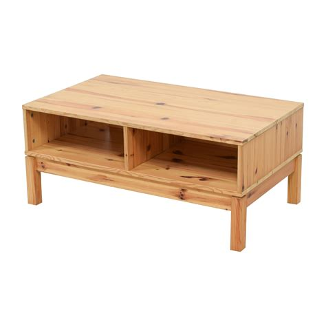 ikea wood 71 off ikea ikea husar pine wood tv table storage