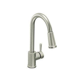 moen level kitchen faucet moen 7175csl classic stainless single handle kitchen