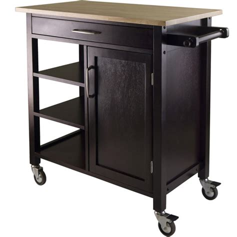 wood mali kitchen cart two tone walmart