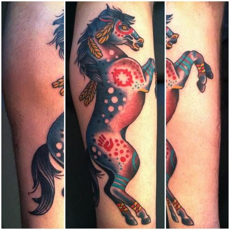 traditional native american tattoos american tatoos traditional war pony