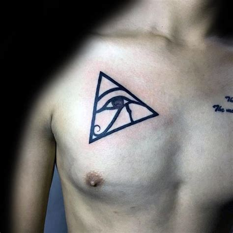tattoo chest triangle 50 eye of horus tattoo designs for men egyptian