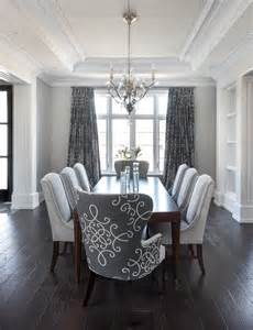 Dining Room With Grey Floor Gray Dining Room With Gray Medallion Curtains