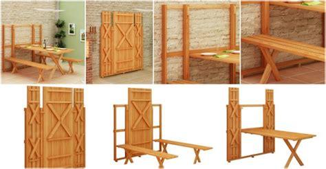 diy fold table plans diy plans space saving fold picnic table