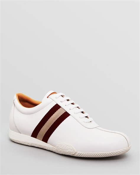 bally shoes for bally wimbledon sneakers in white for lyst
