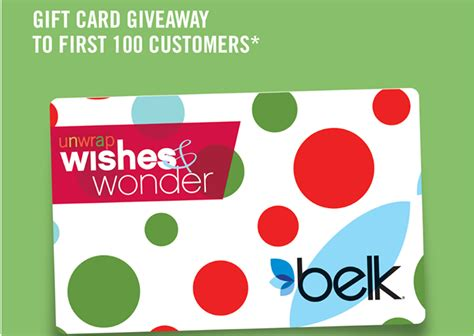 Belks Gift Card - free gift card at belk stores