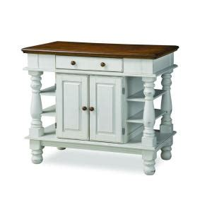 kitchen island home depot home styles americana kitchen island in distressed white with oak top 5094 94 the home depot