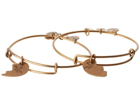 alex and ani best friends set of 2 charm bangle at zappos