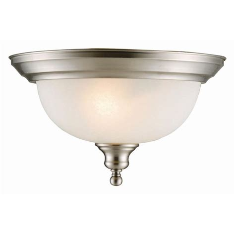 Dome Ceiling Lights Design House Bristol 2 Light Satin Nickel 2 Dome Ceiling