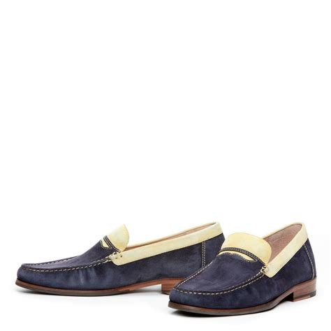 washing suede shoes donald j pliner wash suede loafer in blue for lyst