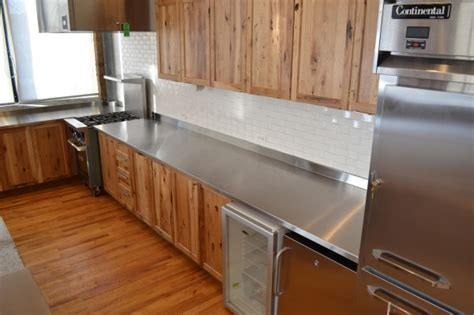 Stainless Countertop by Custom Metal Home Stainless Steel Countertops