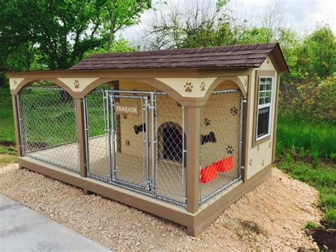 in house dog fence custom dog house kennel chain link fence dogs houses pinterest chain link