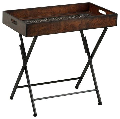 Tv Table Trays by Cyan Design 24 5x13 Inch Heritage Tray Stand Table