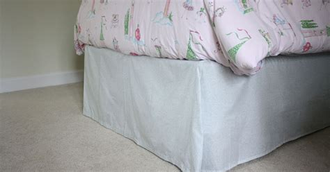 diy bed skirt diy bed skirt no sewing or cutting required hometalk