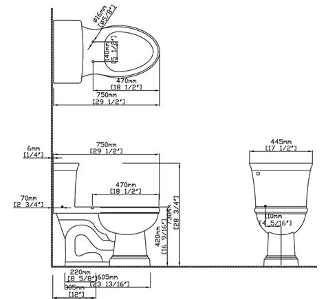 size of toilet standard toilet dimensions inches www imgkid com the