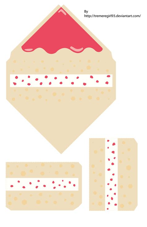 Papercraft Cake - strawberry cake papercraft by tremeregirl93 on deviantart
