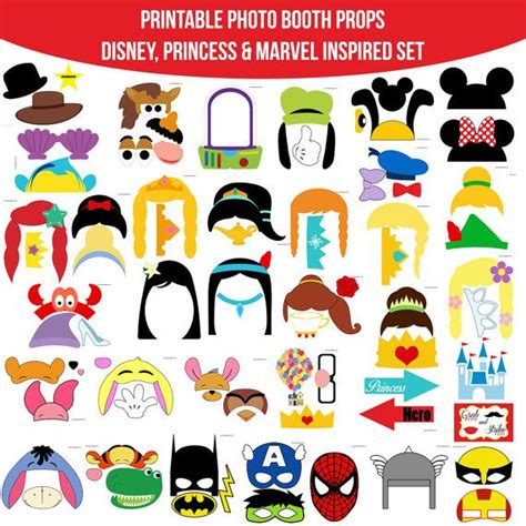 disney photo booth props printable pdf 14 best images about photobooth on pinterest disney