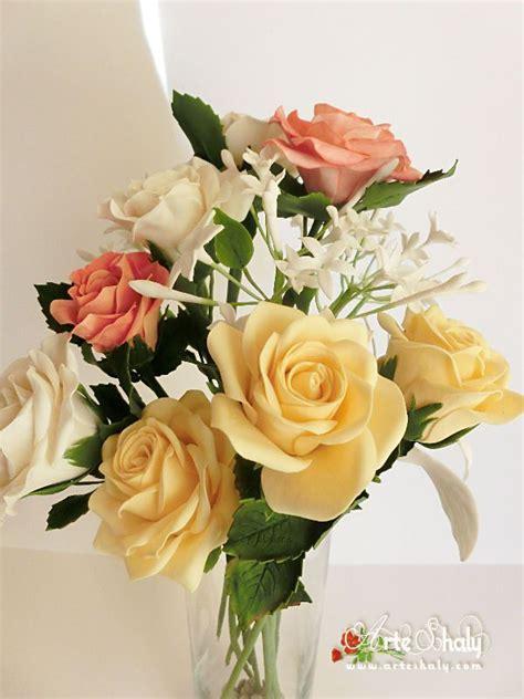 de tortas en porcelana fra bouquet de rosas para decorar torta de bouquet rosas jazmines porcelana fr 237 a shalyarts