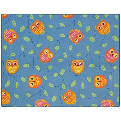 eulen teppich happy owls carpet rug 133 x 170 cm blue