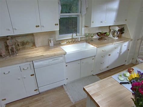 how to install butcher block countertops install an apron front sink in a butcher block countertop how tos diy