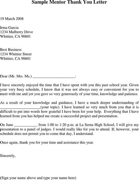appreciation letter to mentor appreciation week letter sle thank you mentor