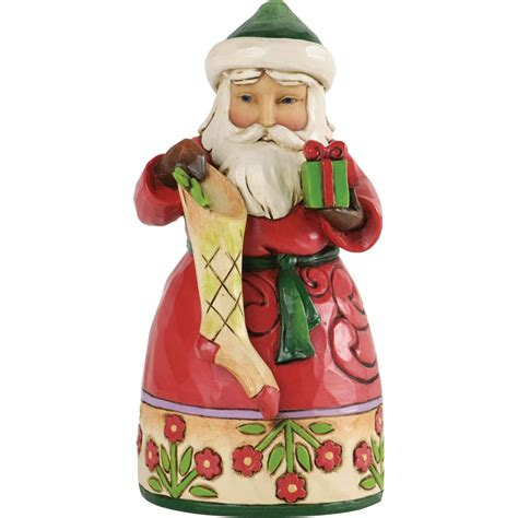 jim shore pint sized santa with stocking figurine