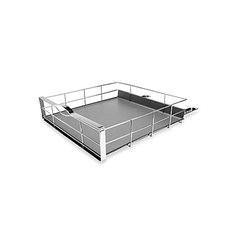 cabinet pull out bed simplehuman 174 20 inch pull out cabinet organizer in grey