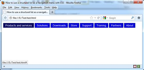 css tutorial with asp net how to use lists to make a horizontal menu with css