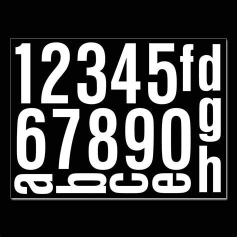 Hausnummer Aufkleber by Hausnummern Aufkleber Selbstklebend Kaufen Verschiedene