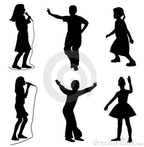 kids singing dancing royalty  stock  image