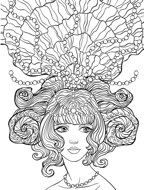 hair dreams coloring book for adults books 10 hair coloring pages page 6 of 12 nerdy