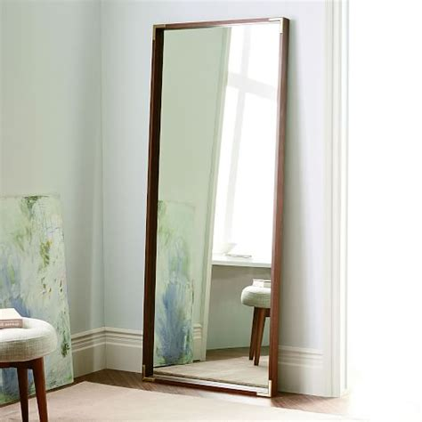 Floor L West Elm by Malone Caign Floor Mirror Walnut West Elm