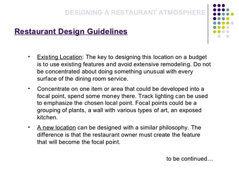 cafe design guidelines restaurant atomsphere