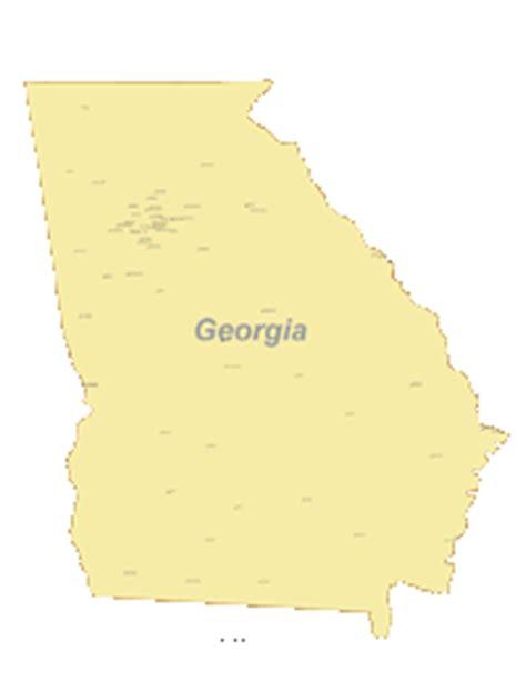 georgia digital vector maps download editable