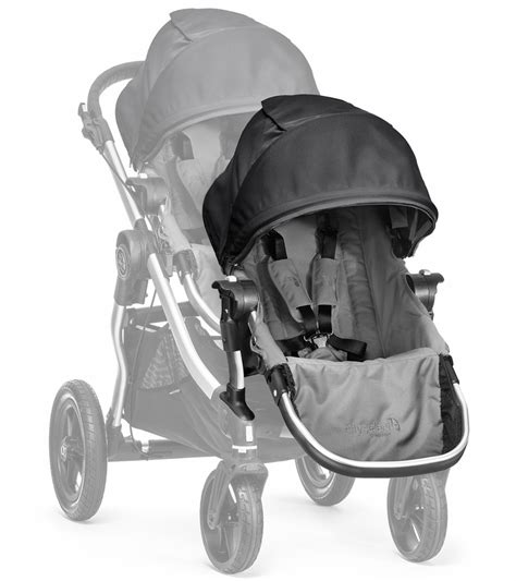 baby jogger select second seat black baby jogger city select second seat kit gray black