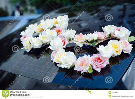 wedding car decorations with flower bouquet pictures wedding car decor flowers bouquet car decoration royalty free stock photo cartoondealer