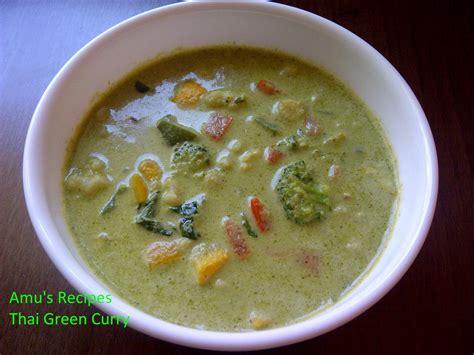 amu s recipes veg thai green curry